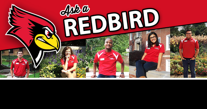 Ask a Redbird with photos of student admissions staffers